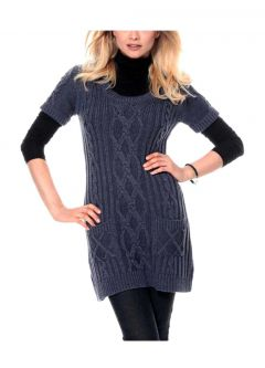 Long-Pullover, blau melange von Cheer