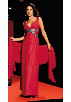 Abendkleid m. Schal, rot von Laura Scott Evening