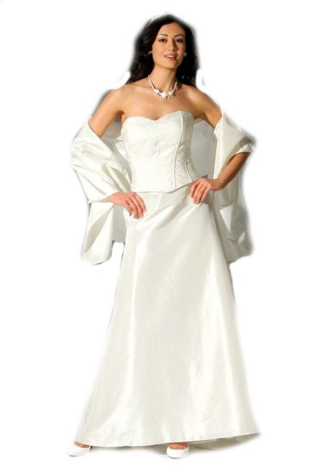 Brautkleid-Set 3-tlg., creme von Laura Scott Wedding