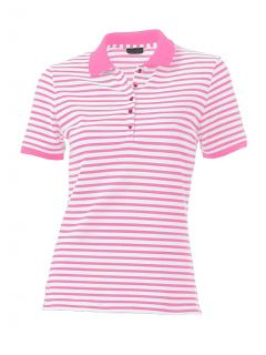 Poloshirt, pink-weiß von H**** - Best Connections